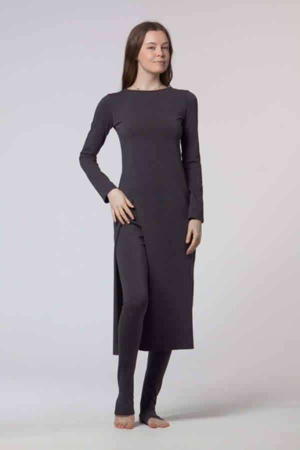 Bavlněné šaty s dlouhým rukávem