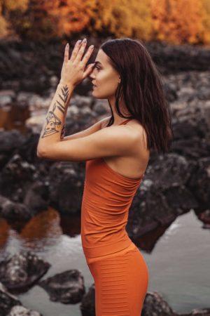 Oranžové tílko
