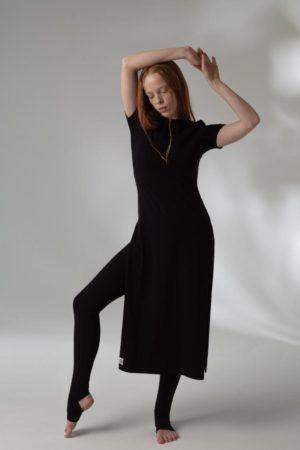 Černé bavlněné šaty